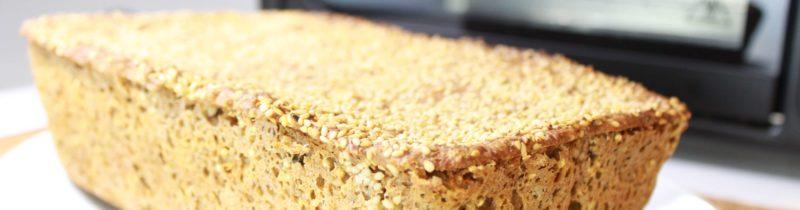 Pão caseiro integral orgânico